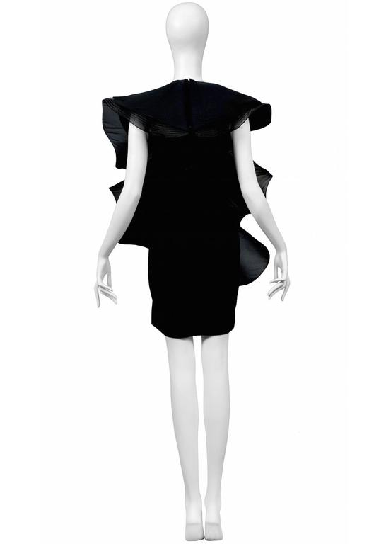 Pierre Cardin Couture Architectural Ruffle Dress In Excellent Condition For Sale In Los Angeles, CA