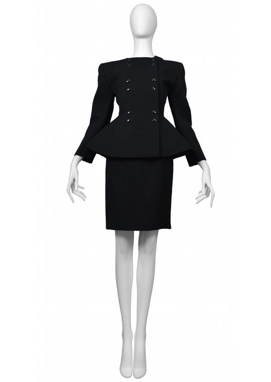Pierre Cardin Couture iconic couture suit. Circa, 1986-1993.
