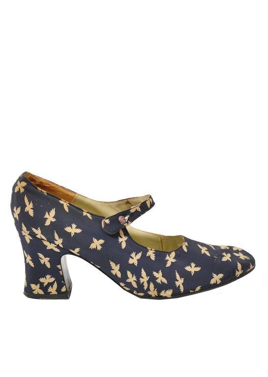 Vintage Black Velvet Biba Shoes