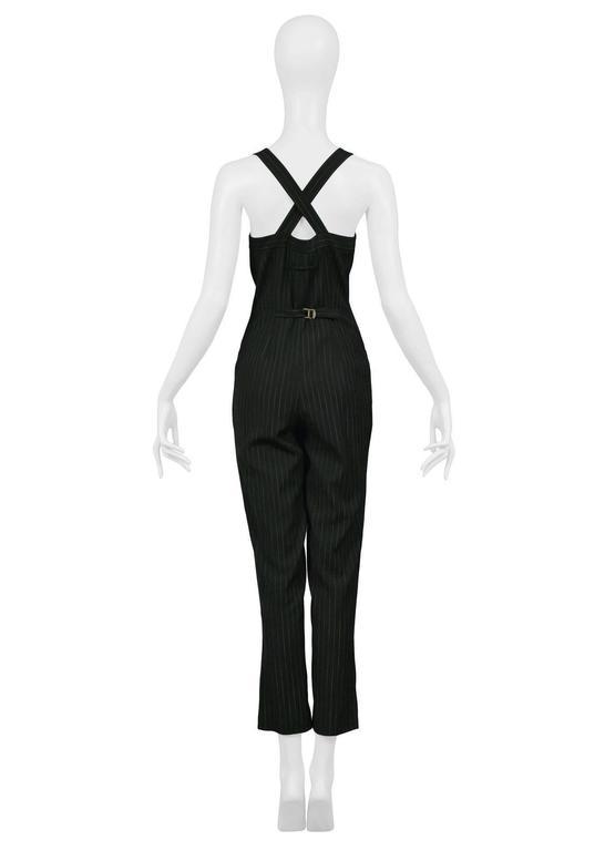 Black Jean Paul Gaultier Pinstripe Jumpsuit For Sale