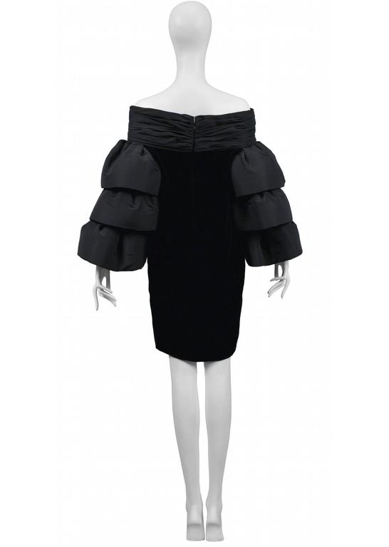 Pierre Cardin Couture Ruffle Sleeve Dress In Excellent Condition For Sale In Los Angeles, CA