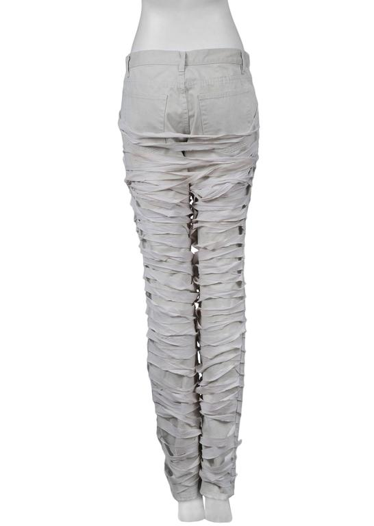 Helmut Lang Off White Mummy Jeans 2004 For Sale at 1stdibs