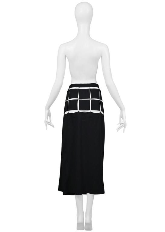 Yohji Yamamoto Black Puzzle Skirt 2004 In Excellent Condition For Sale In Los Angeles, CA