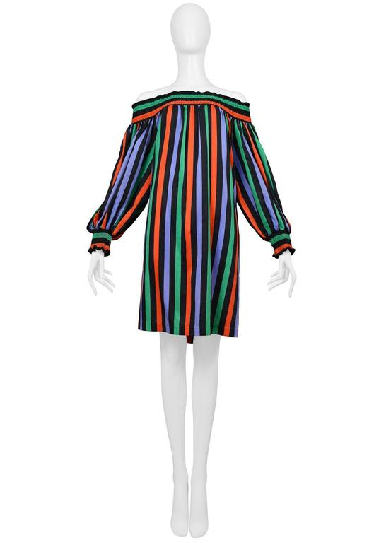 Yves Saint Laurent Stripe Peasant Dress 2