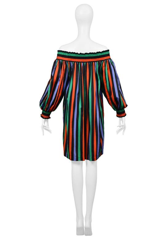 Yves Saint Laurent Stripe Peasant Dress 3