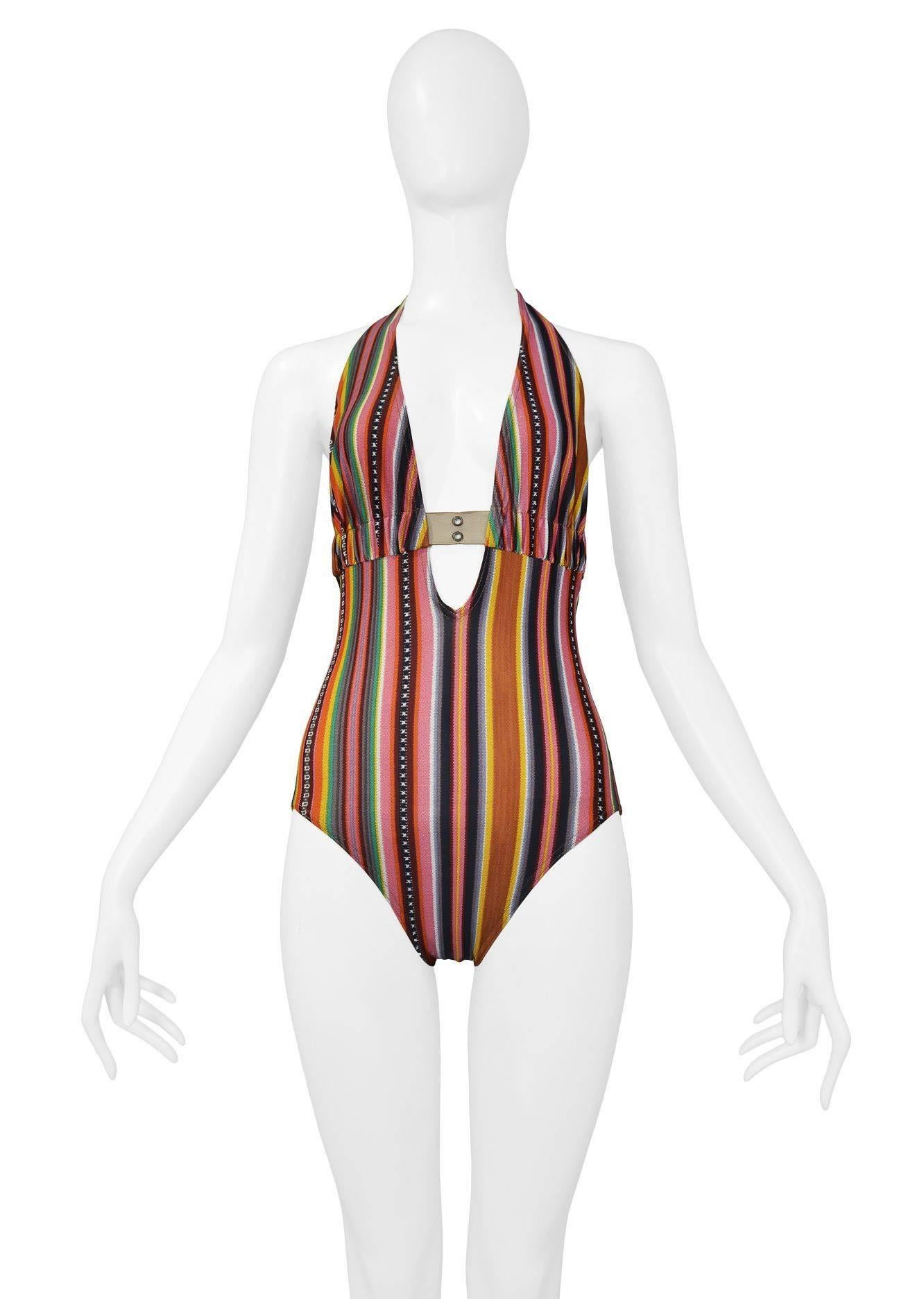 a767cd28d5 Christian Dior Stripe Cargo Strap Swim Suit 2002 For Sale at 1stdibs