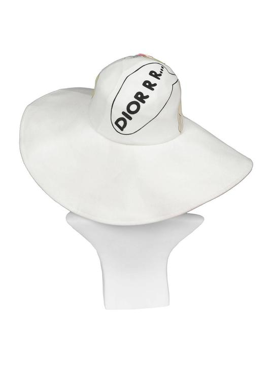 Gray Christian Dior Cartoon Hat For Sale