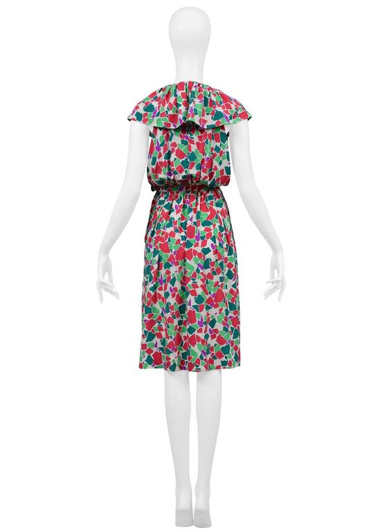 Yves Saint Laurent Abstract Keyhole Dress 3