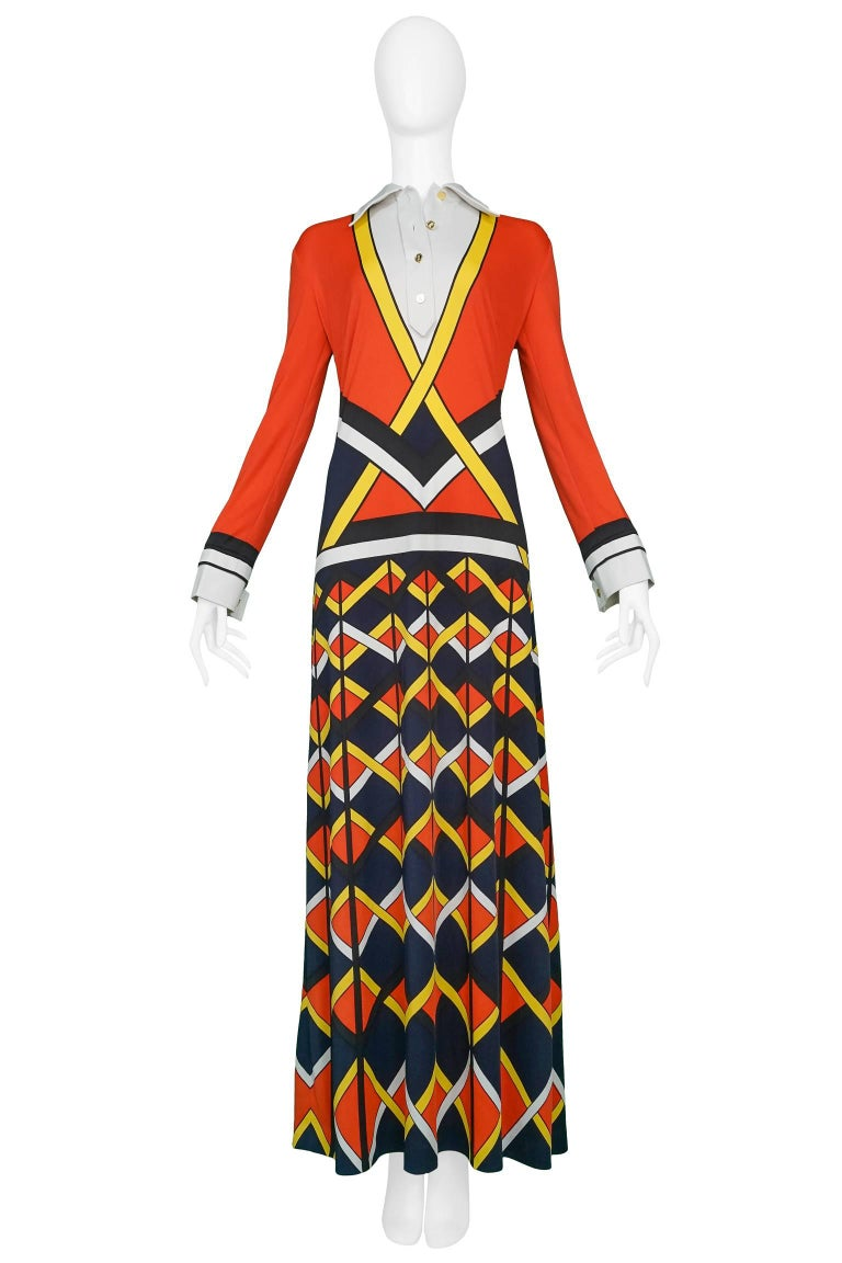 Red Yellow And Black Maxi Dress For Sale At 1stdibs