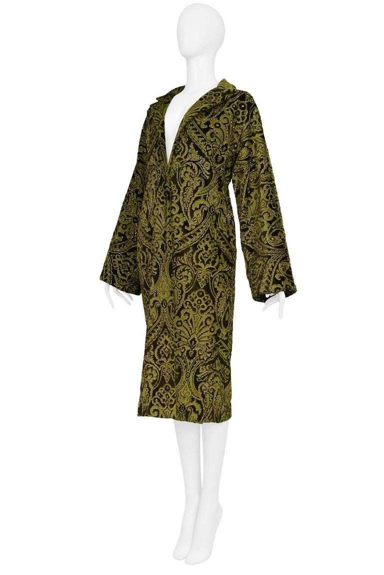 Dolce & Gabbana Important Velvet Beaded Coat  For Sale 1