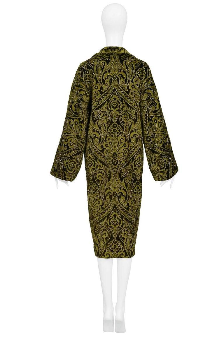 Dolce & Gabbana Important Velvet Beaded Coat  For Sale 2