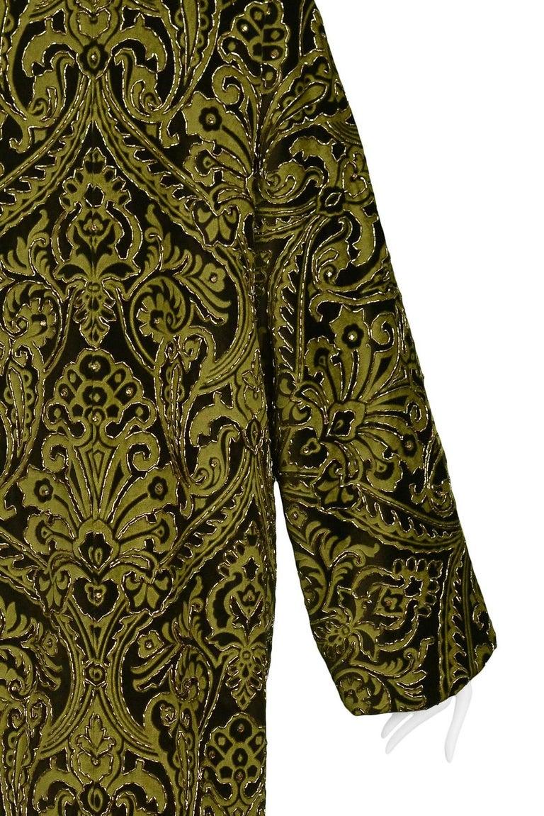 Dolce & Gabbana Important Velvet Beaded Coat  For Sale 3