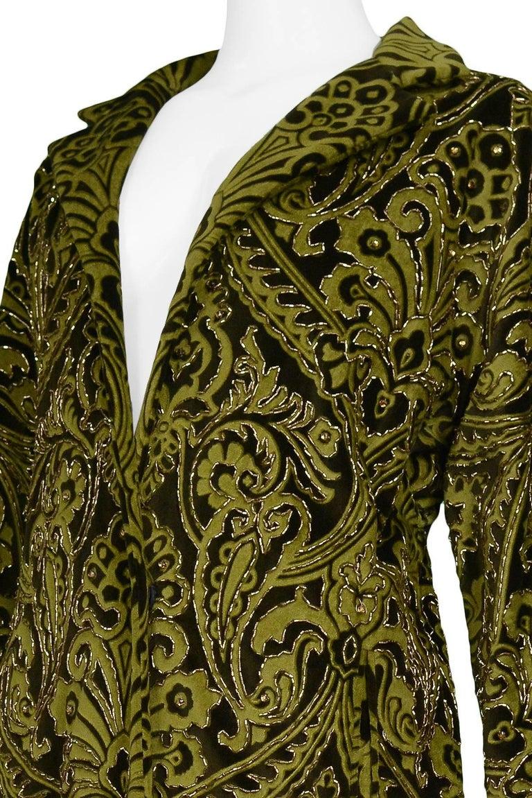 Women's Dolce & Gabbana Important Velvet Beaded Coat  For Sale