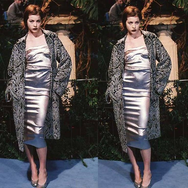 Brown Dolce & Gabbana Important Velvet Beaded Coat  For Sale