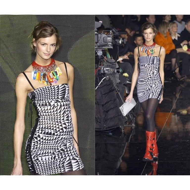 Runway Dolce & Gabbana Harlequin Corset Dress 2003 6