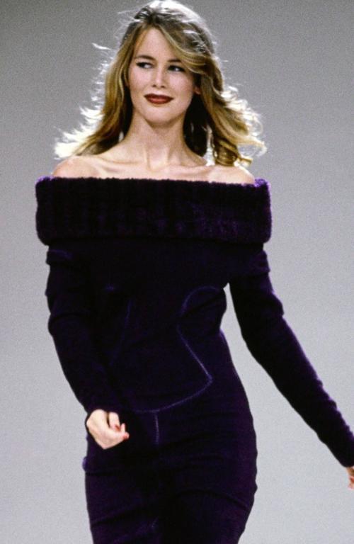 Alaia Black Faux Fur Collar Dress 9