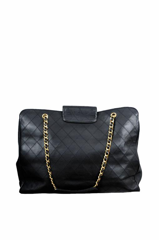 Chanel Lambskin Quilted Leather Overnight bag 2