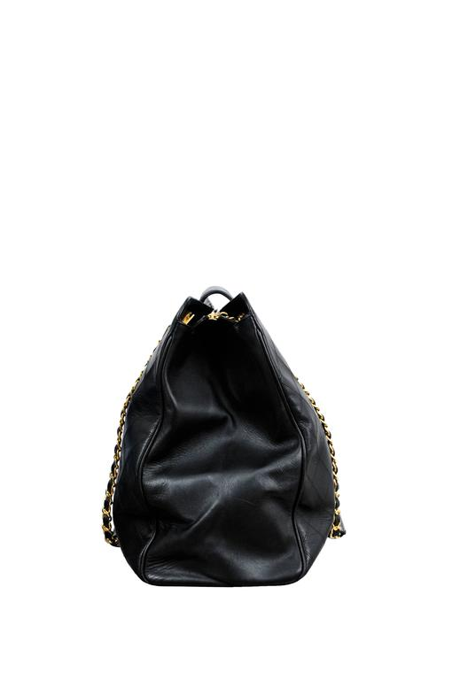 Chanel Lambskin Quilted Leather Overnight bag 3