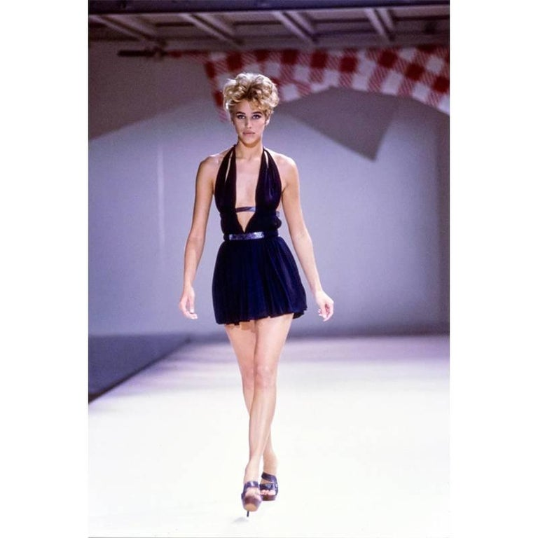 Alaia Vintage Goddess Mini Dress, 1991   In Excellent Condition For Sale In Los Angeles, CA