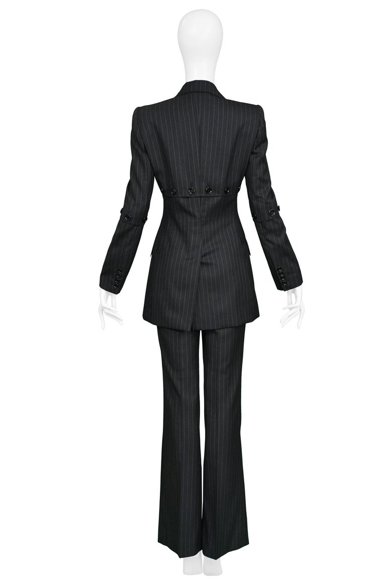 Dolce & Gabbana Vintage Pinstripe Pantsuit In Excellent Condition For Sale In Los Angeles, CA