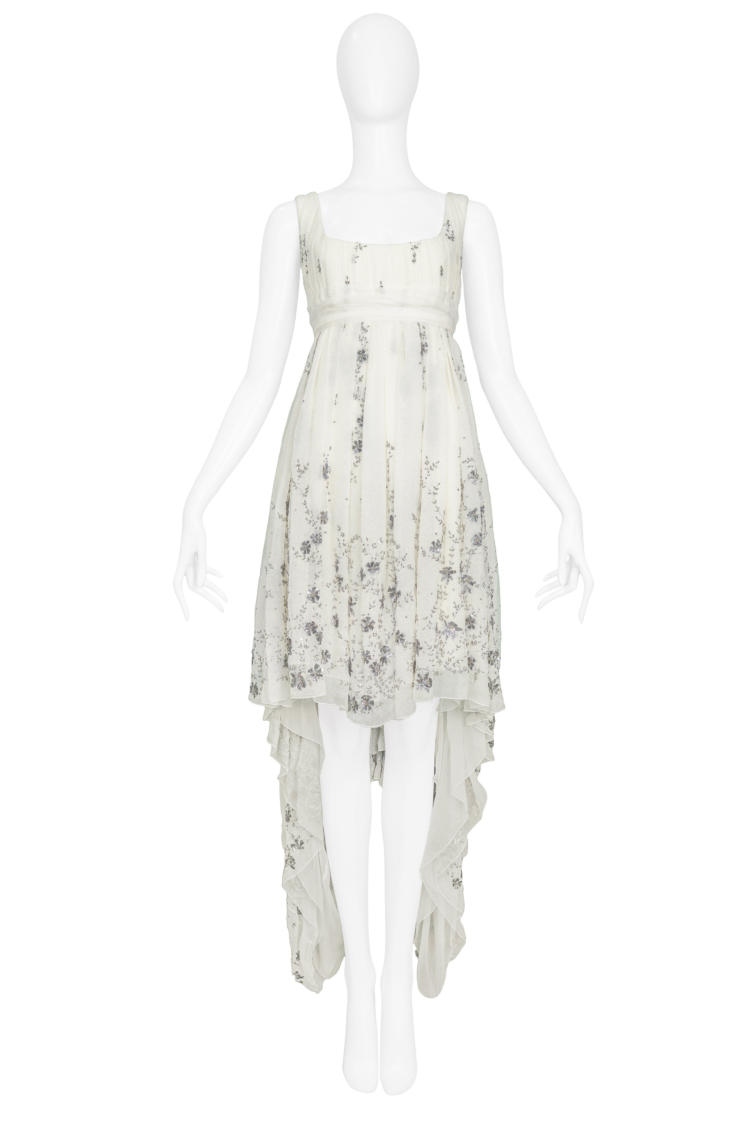b3be29e2eaa Alexander McQueen Embroidered Runway Gown