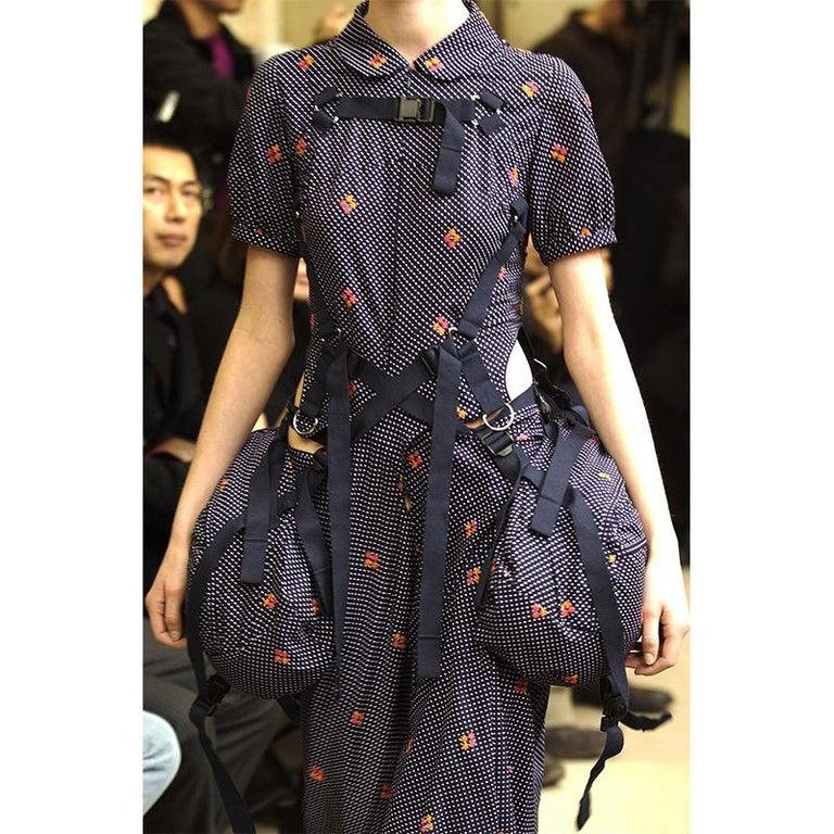 Gray Junya Watanabe Pictorial Parachute Double Bag Dress, 2003