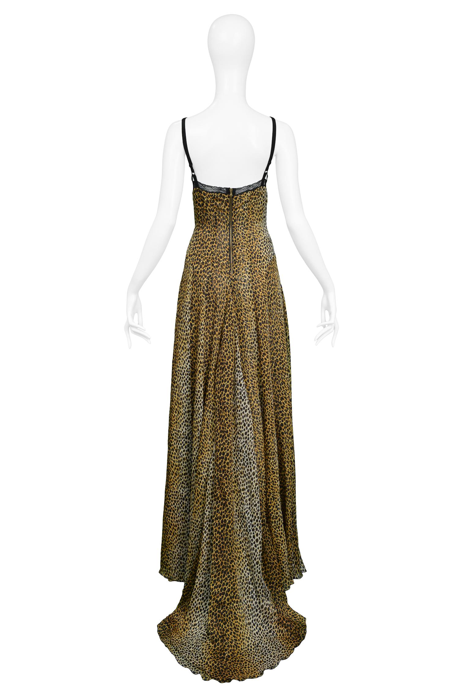 D&G by Dolce and Gabbana Leopard Lace Slip Gown For Sale at 1stdibs