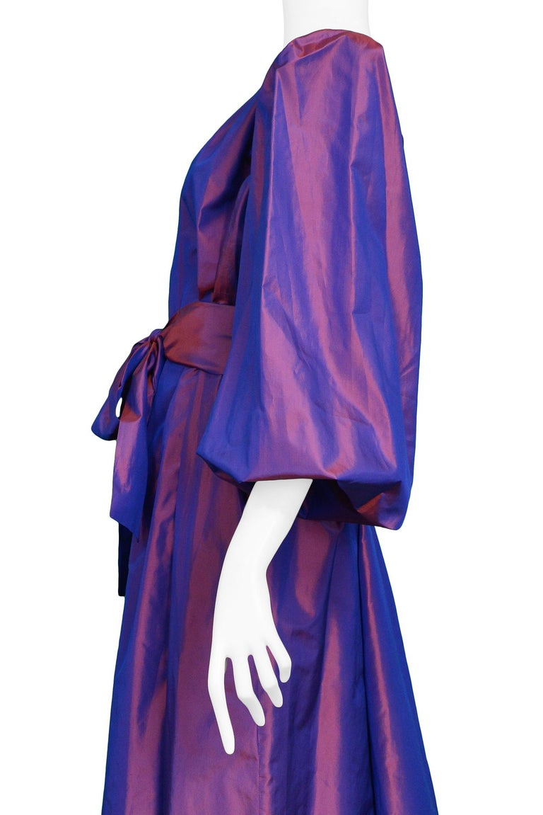 Women's Vintage Yves Saint Laurent Metallic Taffeta Gown  For Sale