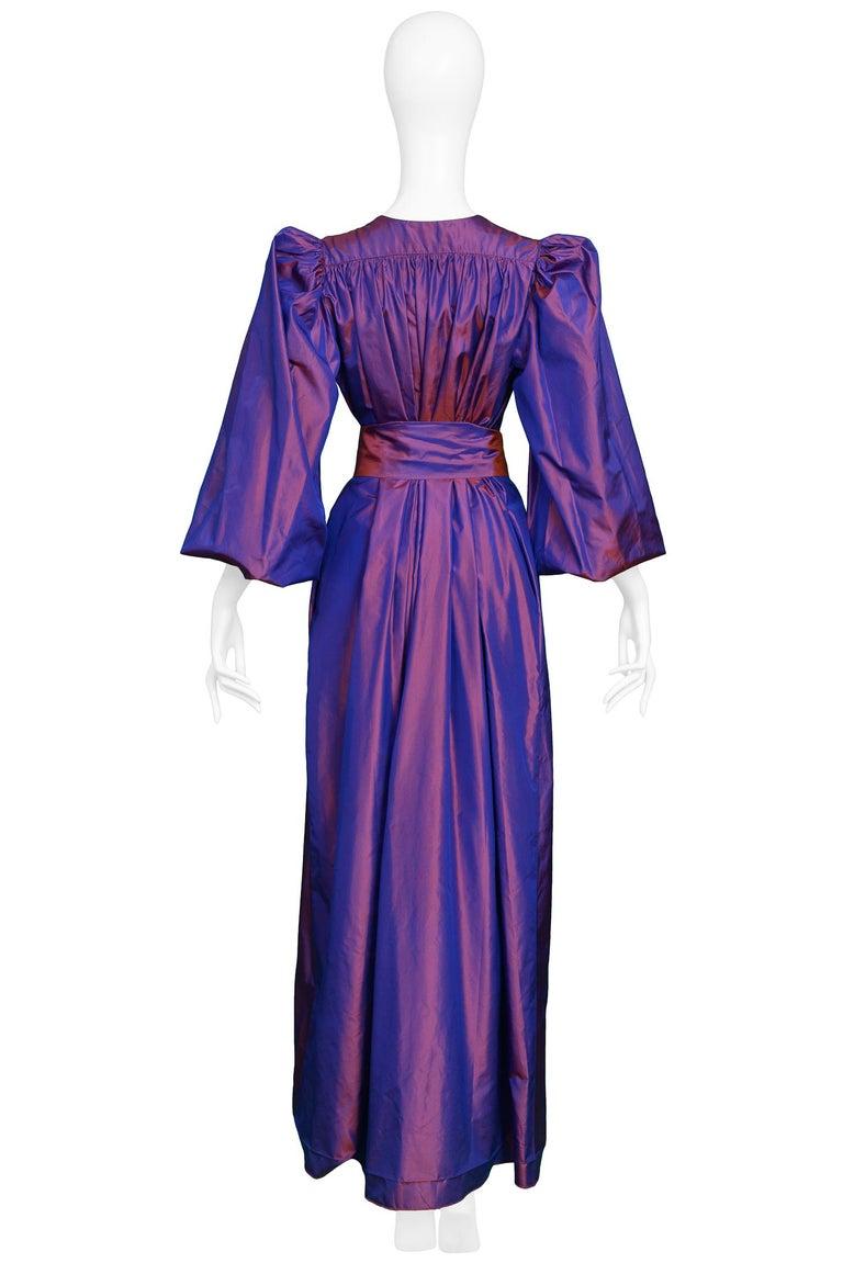 Vintage Yves Saint Laurent Metallic Taffeta Gown  For Sale 1