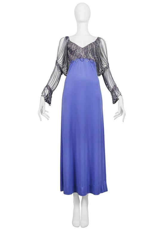 Loris Azzaro Periwinkle Gown For Sale At 1stdibs