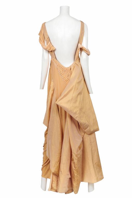 John Galliano Peach Velvet Gown  3
