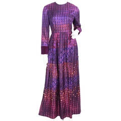 Gino Charles 1960's Embellished Gown