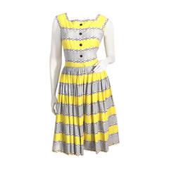 1950s Cotton Print Dress