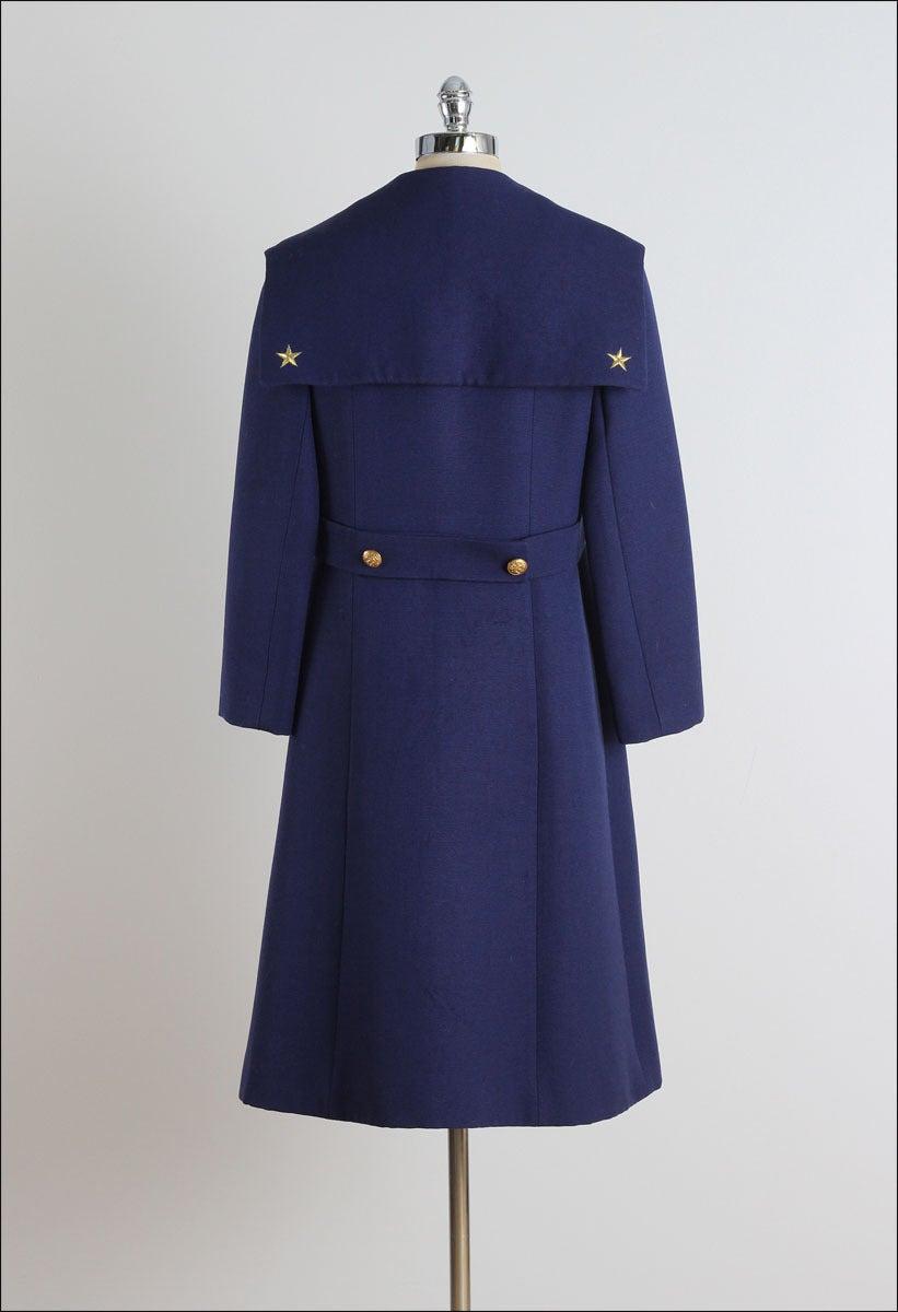vintage 1960s christian naval inspired coat at 1stdibs