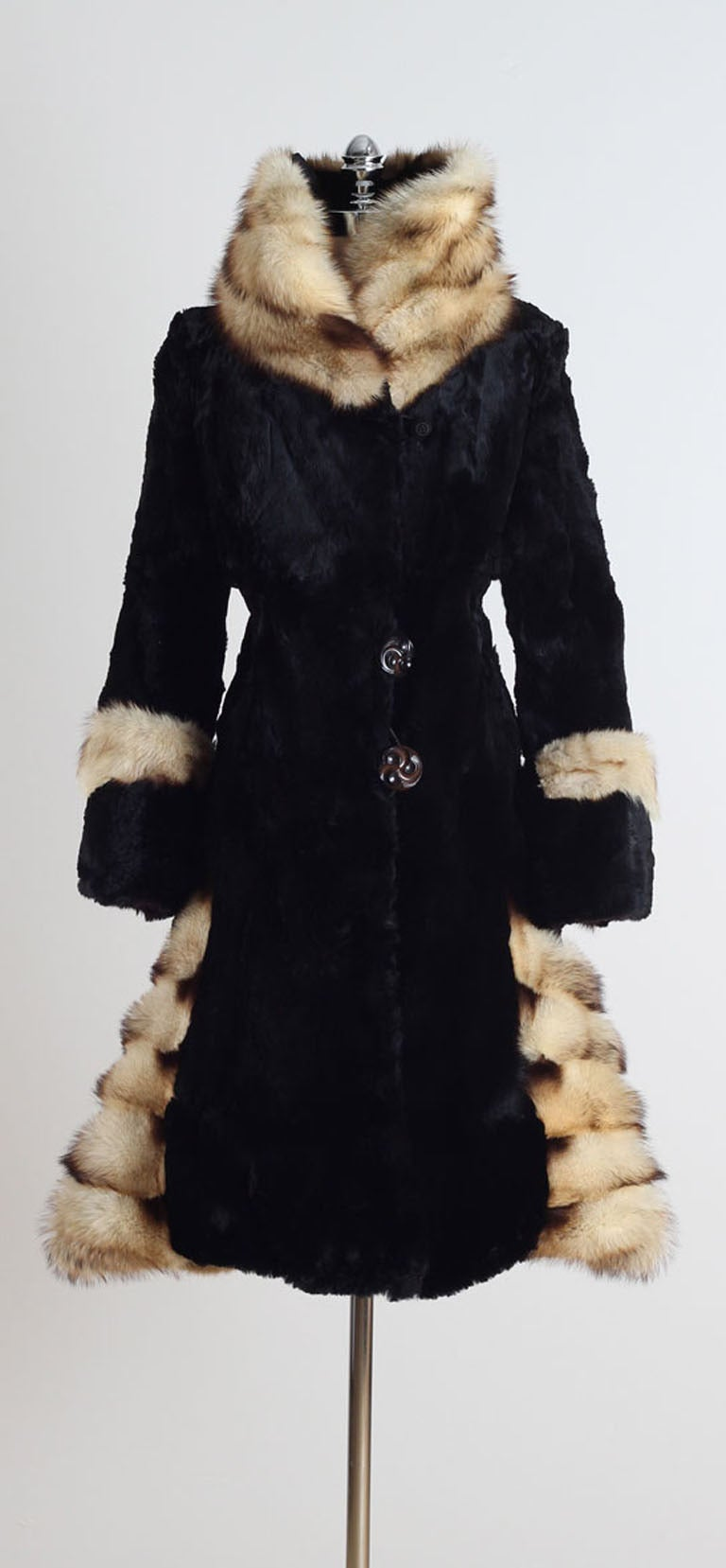 Vintage 1920 S Sheared Beaver And Fitch Fur Coat At 1stdibs