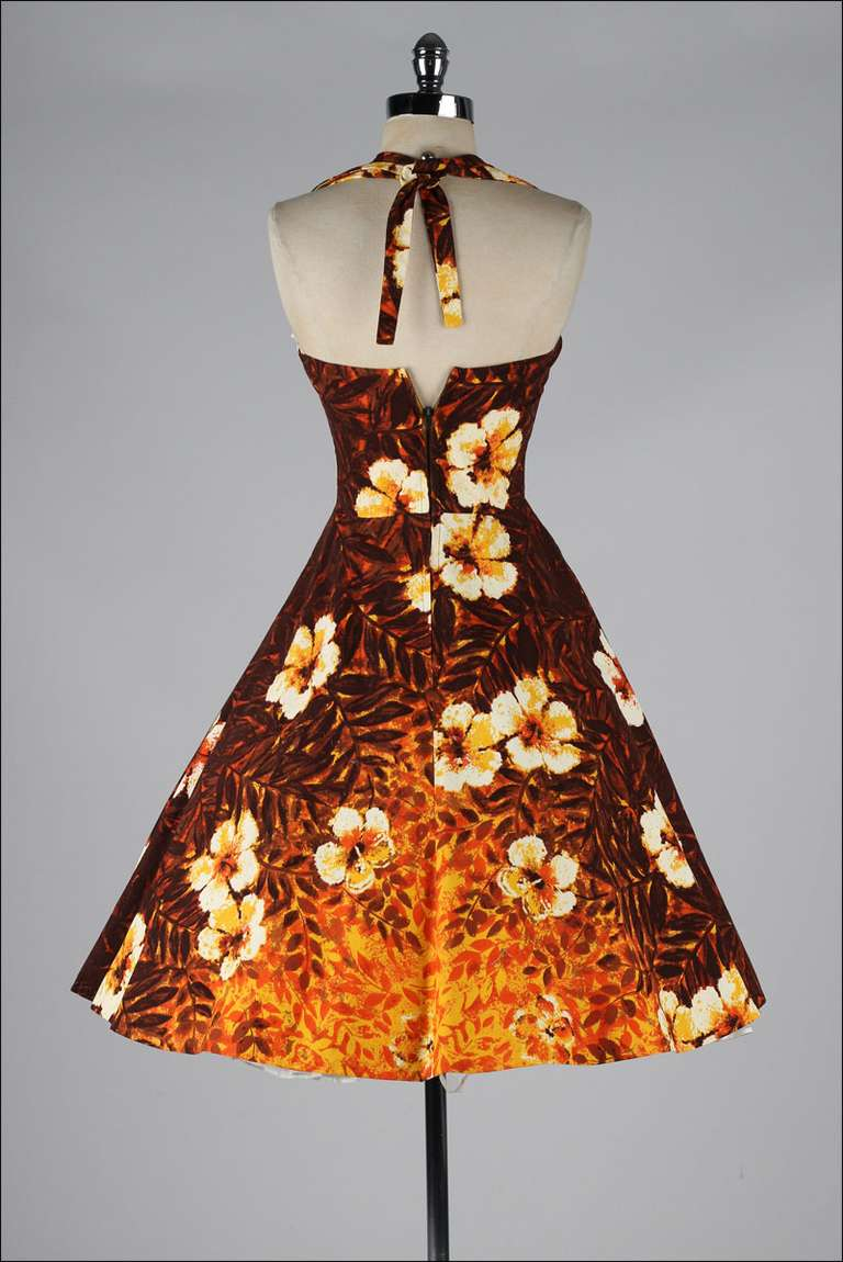 Vintage Halter Dress