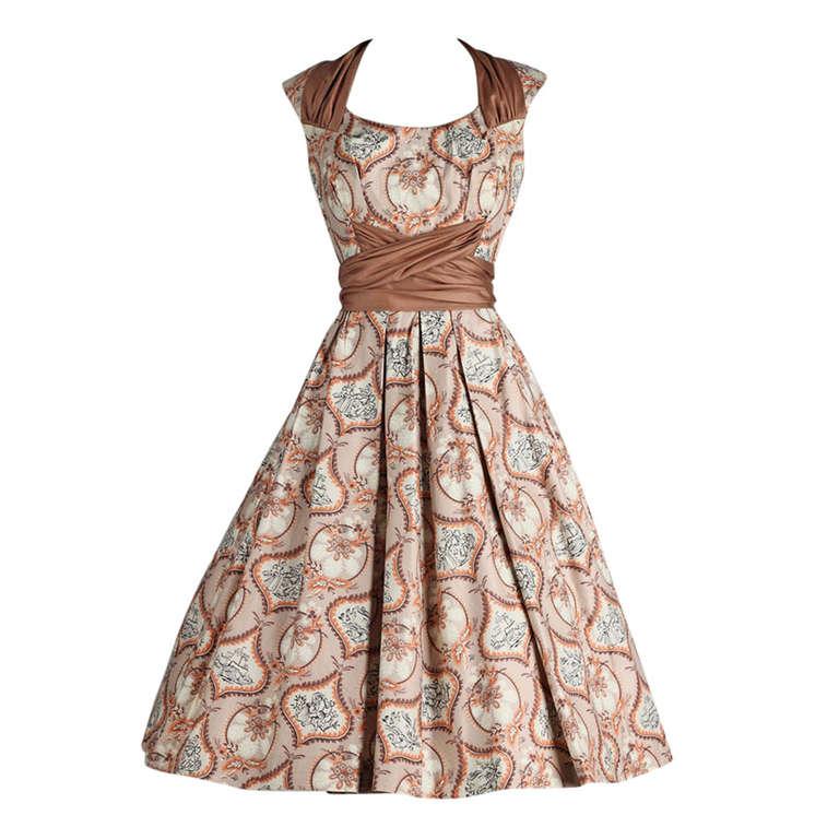 vintage 1950 s marjae of miami polished cotton