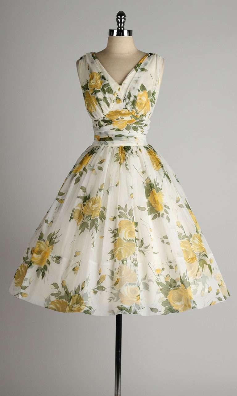 White Vintage Cocktail Dress