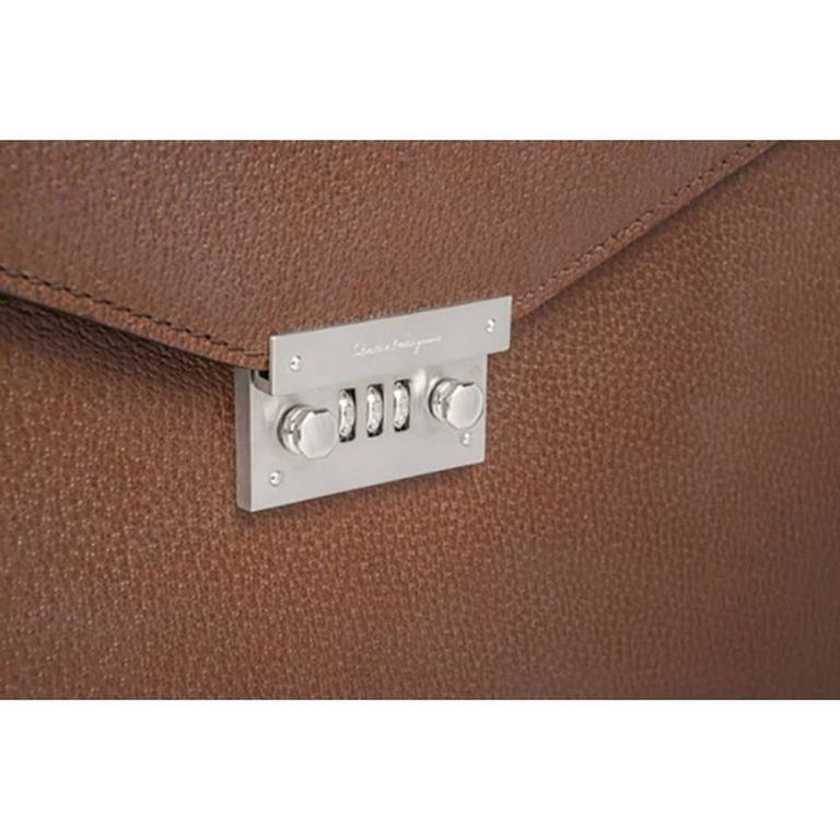 Salvatore Ferragamo Leather Briefcase Shoulder Bag 4