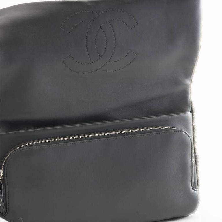 Chanel Shearling Patchwork Comic Runway Handbag Multi Clutch In New never worn Condition For Sale In Los Angeles, CA