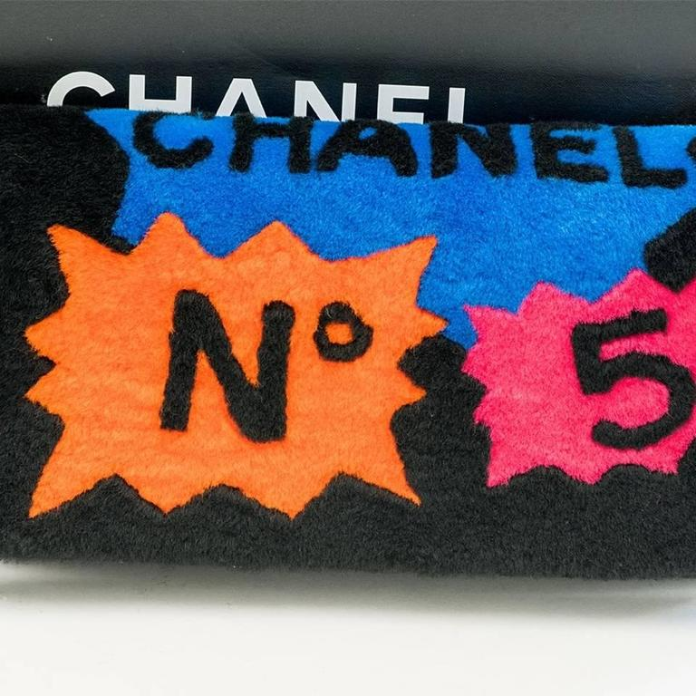 Chanel Shearling Patchwork Comic Runway Handbag Multi Clutch 7