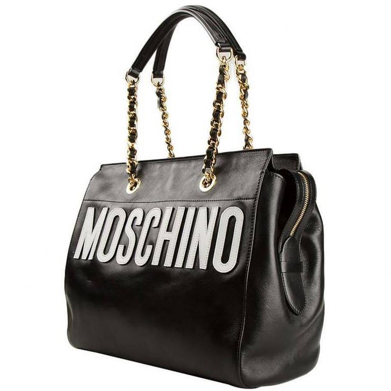 Moschino Black Leather Handbag 2