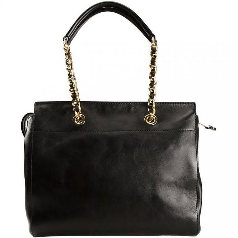 Moschino Black Leather Handbag 3