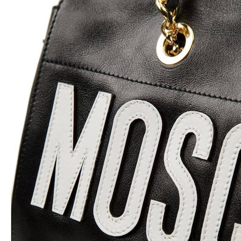 Moschino Black Leather Handbag 4