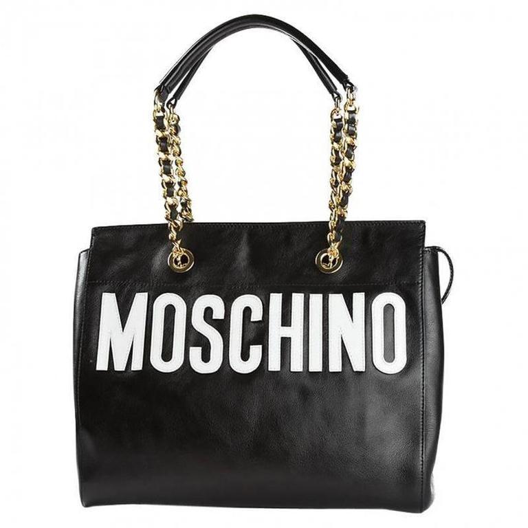 Moschino Black Leather Handbag 1