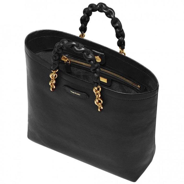 Tom Ford Black Leather Handbag 4