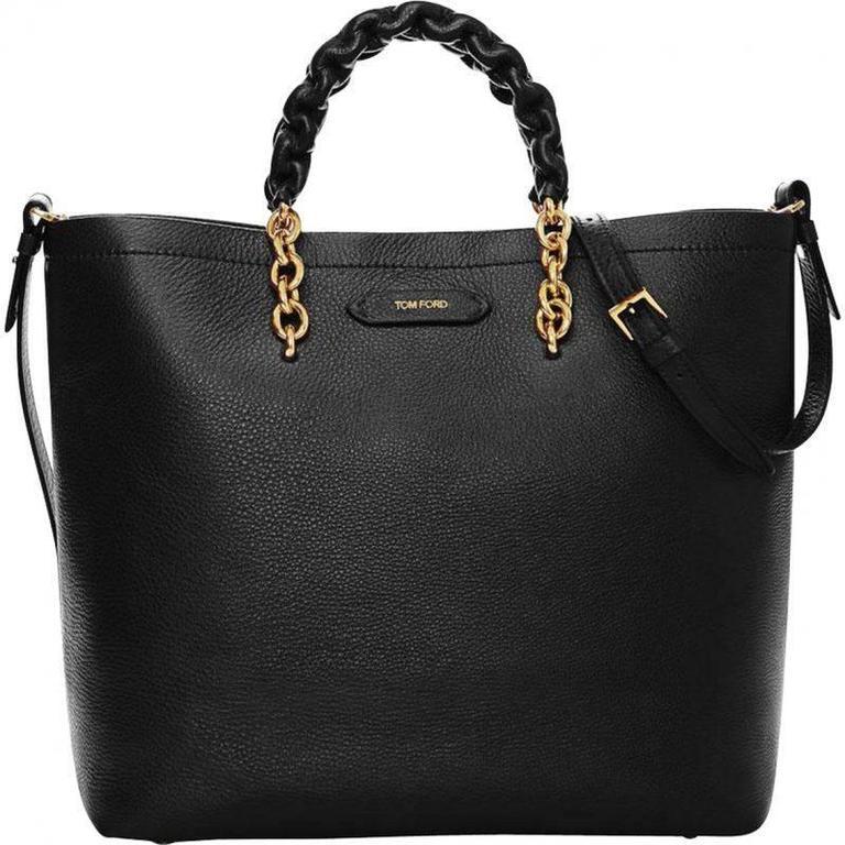 Tom Ford Black Leather Handbag 1