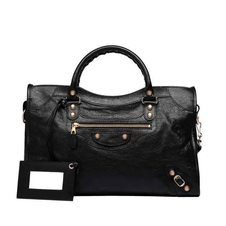 Balenciaga Giant 12 City Oro Black Bag 1