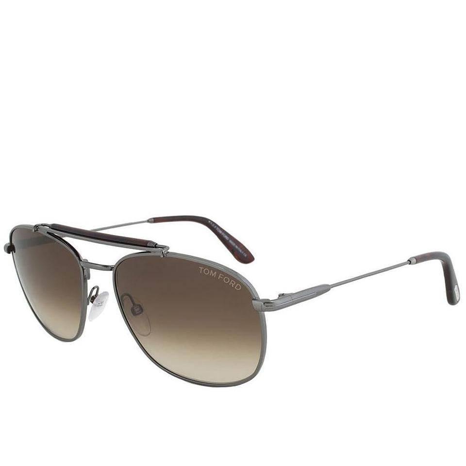 974f9a3bb4 Tom Ford Aviator Sunglasses Gunmetal For Sale at 1stdibs