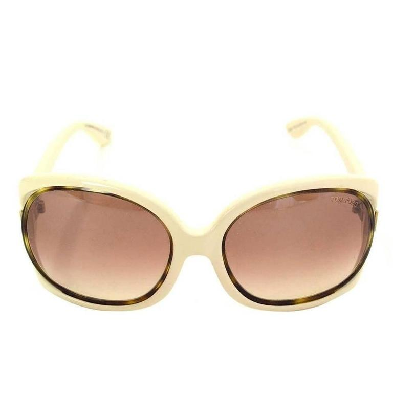 Tom Ford Oversized Sunglasses Cream 2